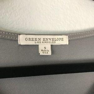 Green Envelope Tops - Green Envelope Los Angeles Zip Top
